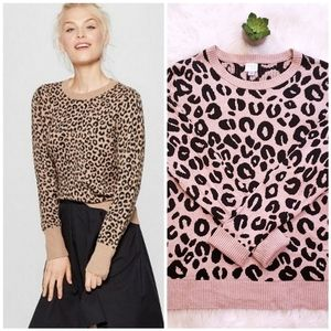 A New Day Leopard Print Sweater Large